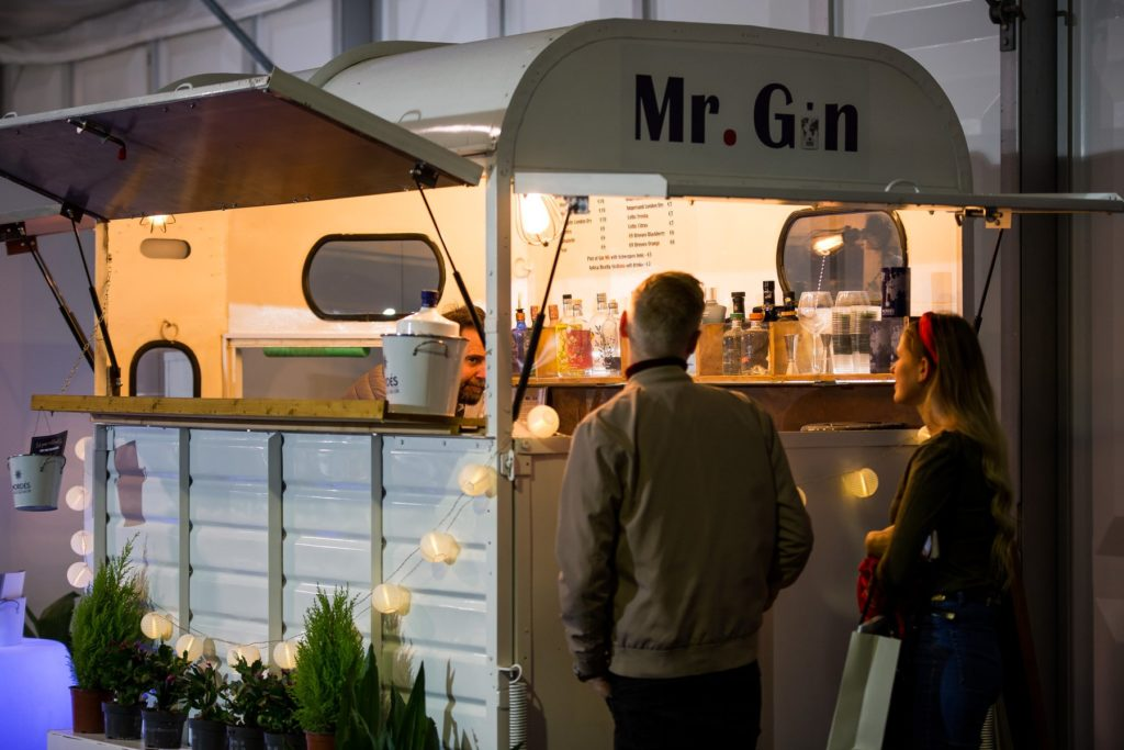 Details from the MFCC Malta Wedding Event; Mr Gin mobile gin bar