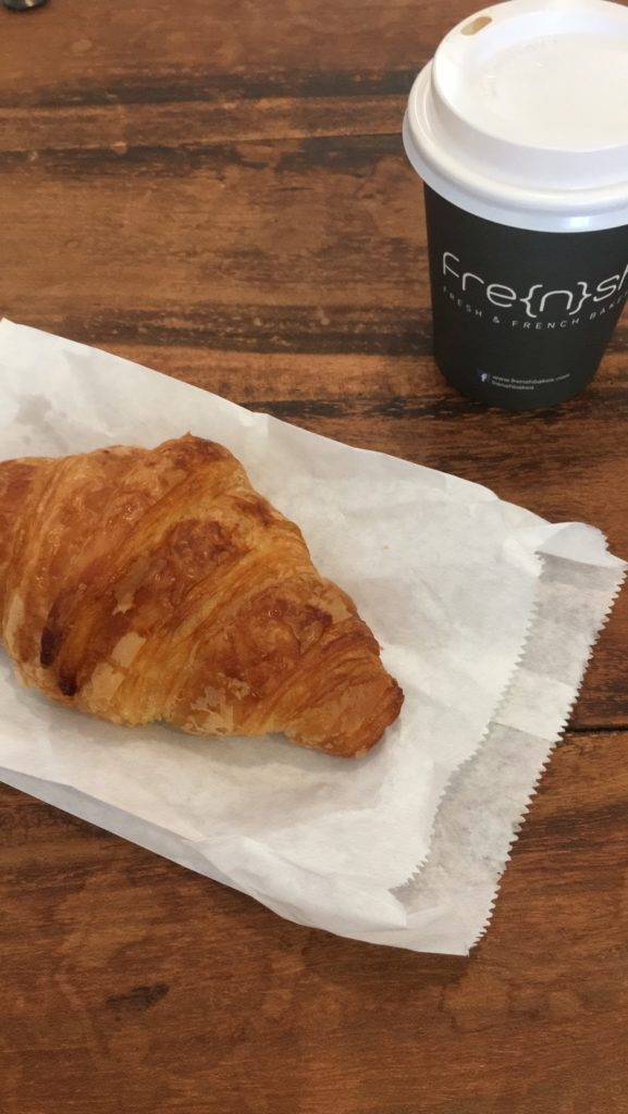 Croissant and coffee from Frensh