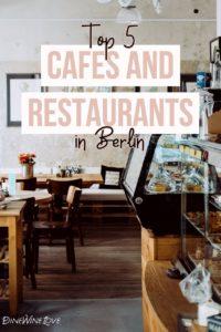 Cafés and Restaurants in Berlin