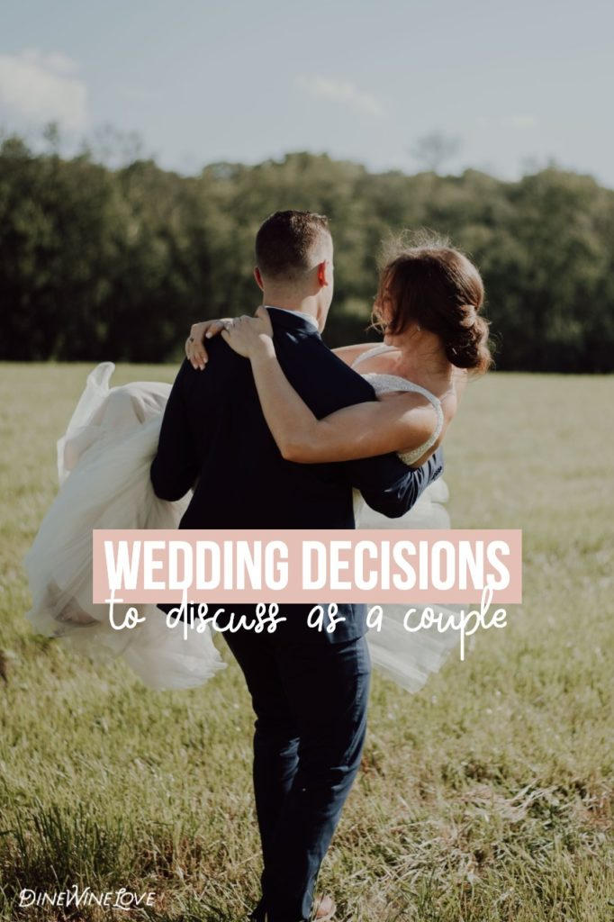 wedding decisions