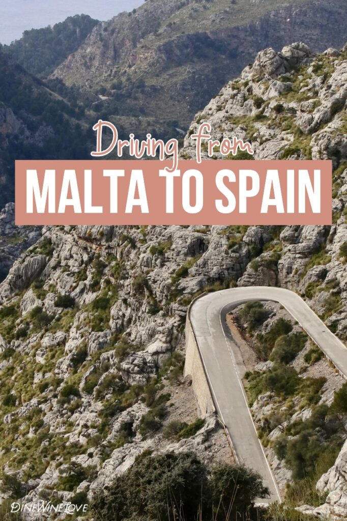 Driving from Malta to Spain