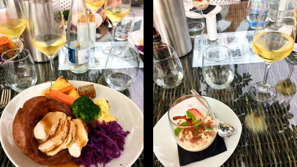 Dinner and dessert at Olivia's La Cala