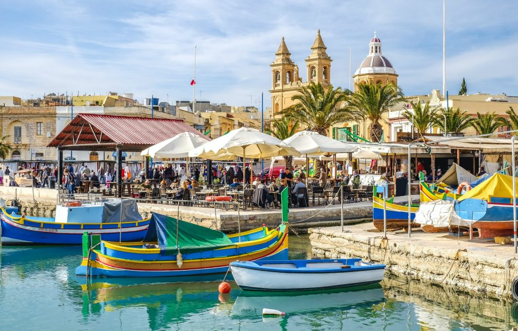 The harbour of Marsaxlokk