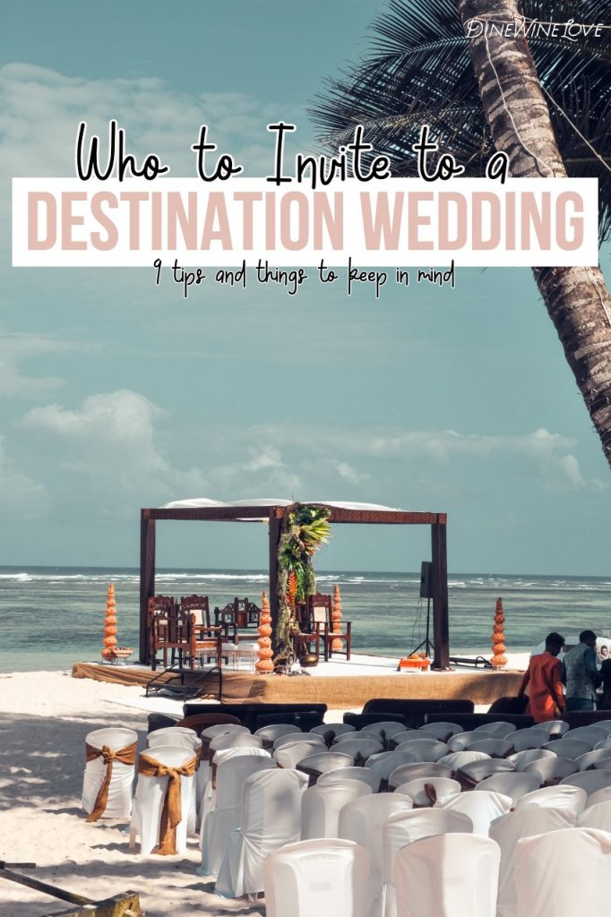 Who to invite to a destination wedding